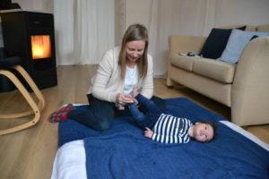 babyvoetmassage